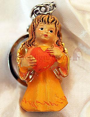Schlüsselanhänger Engel, orange (Orange)