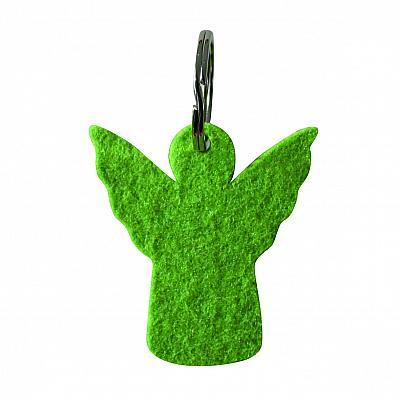 Schlüsselanhänger 'Engel' Filz, grün (Grün)