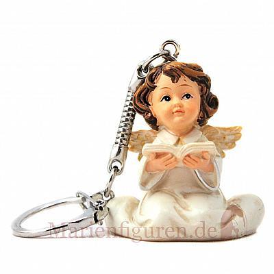 Schlüsselanhänger Engel weiß, lesend (Lesend)