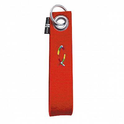 Schlüsselanhänger 'Fisch', Filz rot lang (Rot)