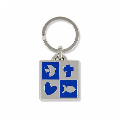 Schlüsselanhänger Friede, Liebe, Glaube, Jesus