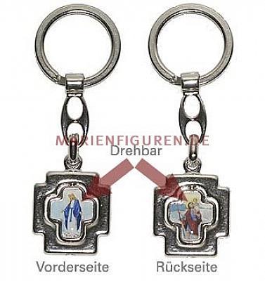 Schlüsselanhänger Gnadenspenderin und heiliger Christophorus