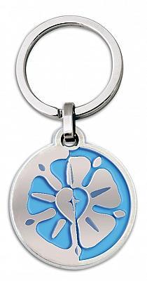 Schlüsselanhänger Lutherrose, blau (Blau)