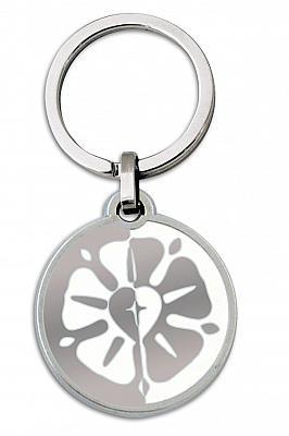 Schlüsselanhänger Lutherrose, weiß (Weiß)