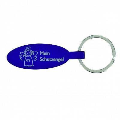 Schlüsselanhänger 'Mein Engel' Metall, blau