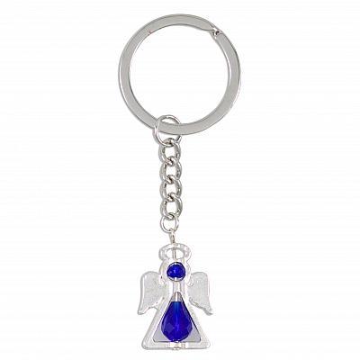 Schlüsselanhänger 'Schutzengelchen', blau (Blau)