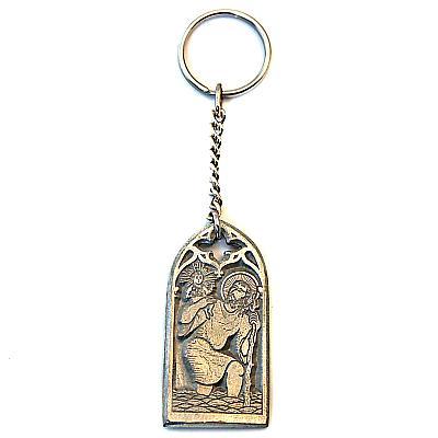 Schlüsselanhänger St. Christophorus, Zinn
