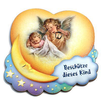 Schutzengel 'Beschütze dieses Kind', Engel mit Laterne