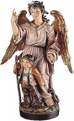 Schutzengel mit Kind, Holz