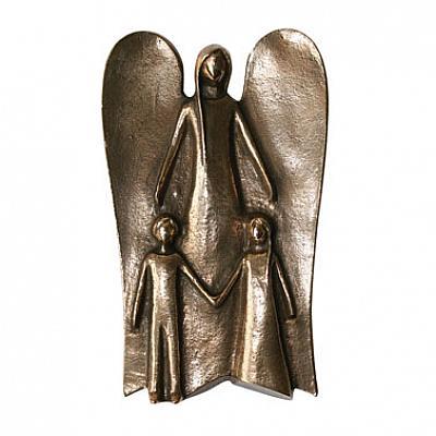 Schutzengel 'Schütze die Kinder', Bronze