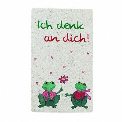 Spruchtäfelchen 'Ich denk an dich!', Naturstein