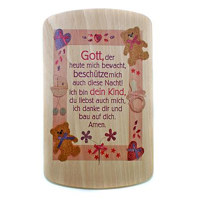 Spruchtafel 'Gott beschütze Dein Kind', Holz