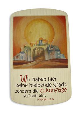 Spruchtafel 'Jerusalem', Holz