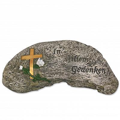 Grabschmuck-Stein 'In stillem Gedenken'