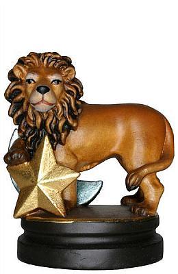 Sternzeichen Löwe, Holzfigur