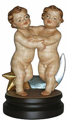 Sternzeichen Zwillinge, Holzfigur