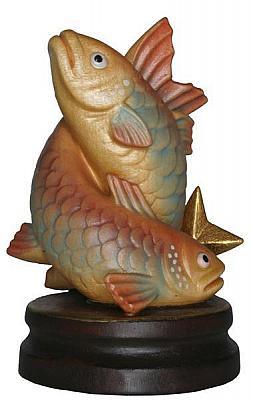 Sternzeichen Fische, Holzfigur