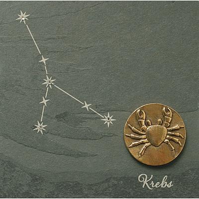 Sternzeichen Krebs, Schiefer & Bronze