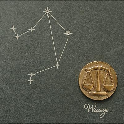 Sternzeichen Waage, Schiefer & Bronze