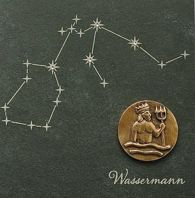 Sternzeichen Wassermann, Schiefer & Bronze