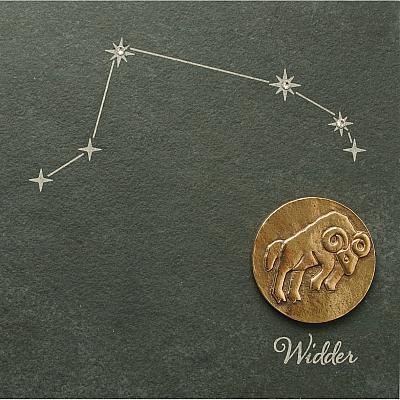 Sternzeichen Widder, Schiefer & Bronze