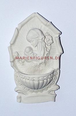Weihwasserkessel Maria, Alabaster