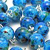 Rosenkranz, blau marmoriert-2