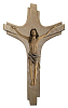 Kruzifix Strahlenkreuz, Holz (coloriert)